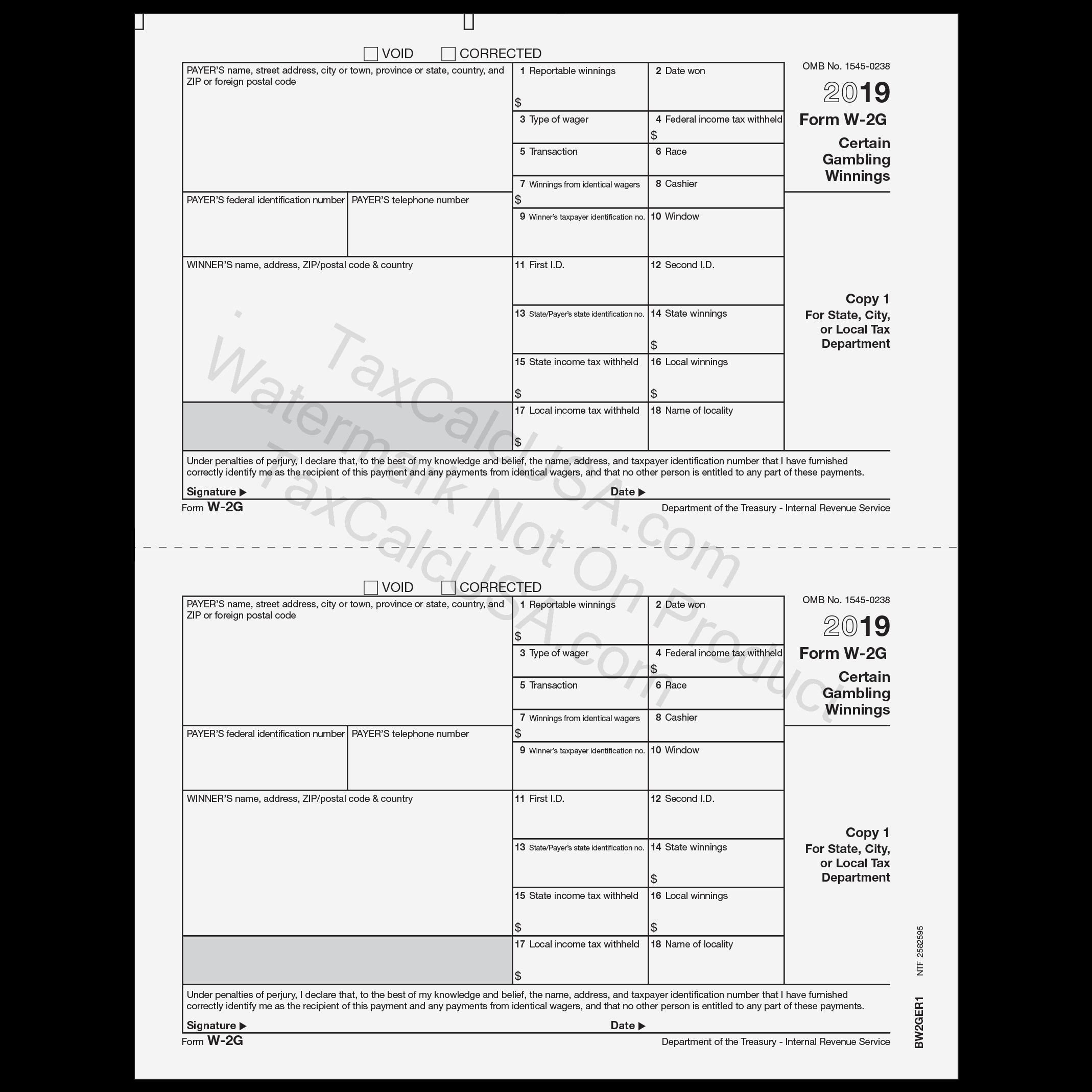 TaxCalcUSA - W-2 W-2G Tax Forms