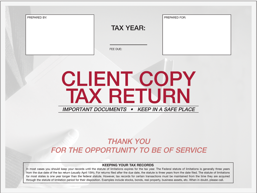 Tax Return Envelopes - TaxCalcUSA