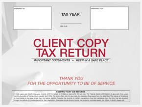 Tax Return Envelope click to enlarge
