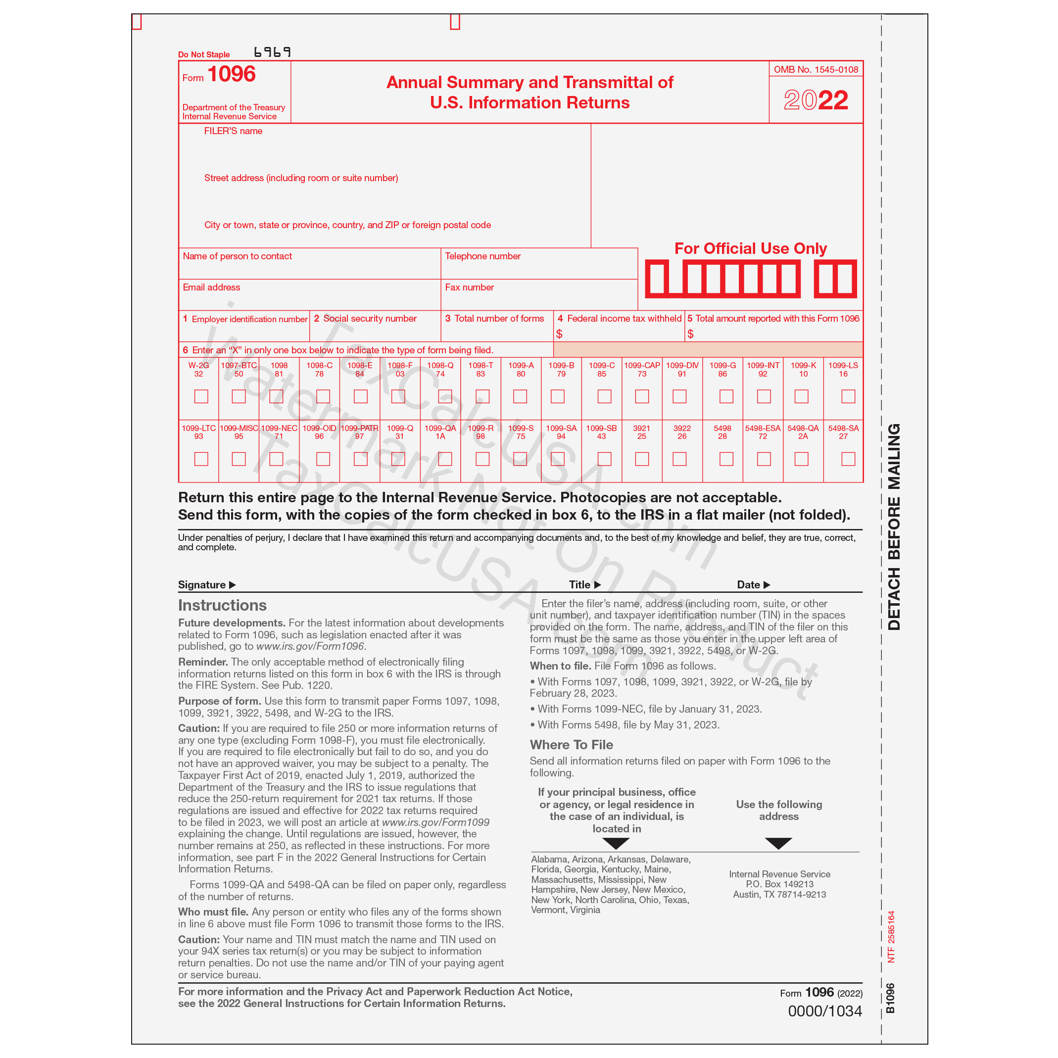 Taxcalcusa 1099 1099 Misc Tax Forms