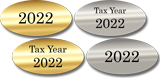 Foil Tax Year Labels